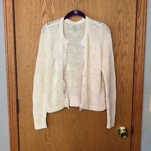 NWOT Loft fringe crochet jacket/blazer